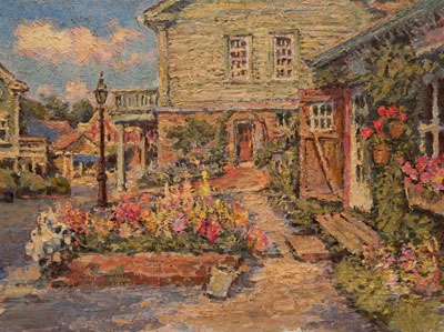 CAT#	2186	 Chester Center with the Studio	 oil 18 x 24	inches Leif Nilsson spring 2000	�