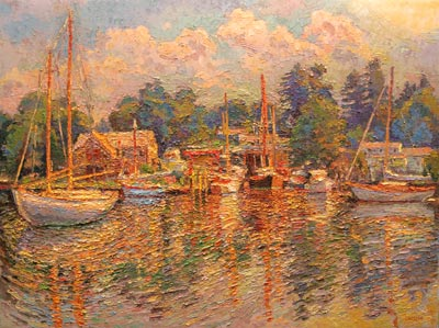 CAT# 3010  Hamburg Cove - summer morning  oil	36 x 48