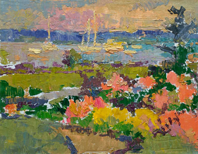 CAT# 3130  Dianes Garden North Cove - Old Saybrook  oil	11 x 14