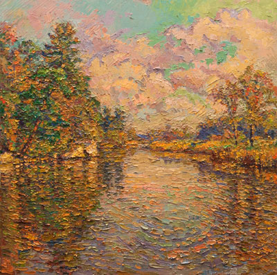 CAT# 3149  Seldens Creek  oil	24 x 24  Leif Nilsson autumn 2011	©
